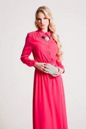 Pembe Gömlek Elbise