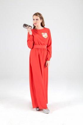 Mini Cepli Maksi Elbise