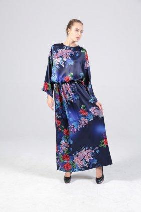 Saten Kimono Elbise