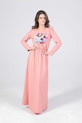 Kalpli Pudra Keyti Elbise
