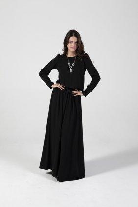 Siyah Keyif Elbise