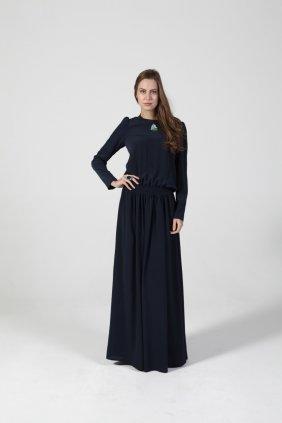 Buğulu Mavi Keyif Elbise