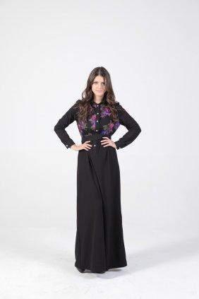 Kış Bahçesi Patchwork Elbise