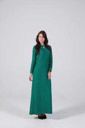 Zümrüt Yeşili Kalem Elbise