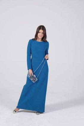 Tatlı Mavi Kalem Elbise