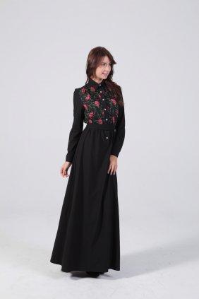 Bahar Çiçekleri Patchwork Elbise