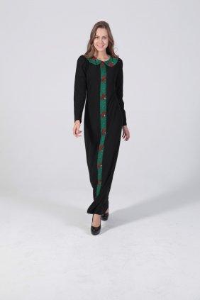 Yeşil Şeritli Kendi Elbise