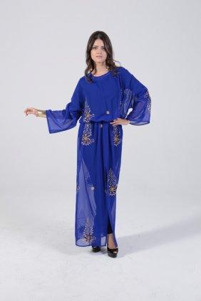 Saks Şifon Tunik Elbise