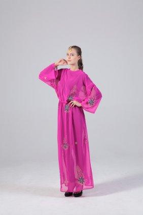 Pembe Şifon Tunik Elbise