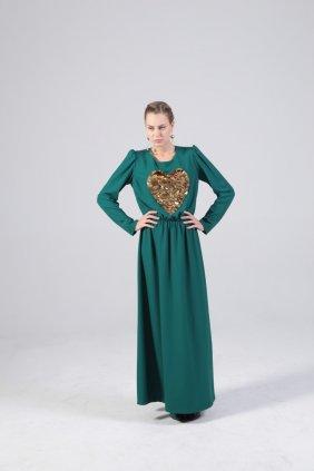 Altın Kalp Keyti Elbise