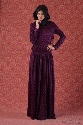 Desenli Keyif Elbise