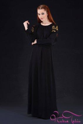 Bella Siyah Varaklı Elbise