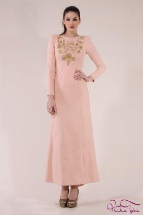 Angelina Altın İşlemeli P Elbise