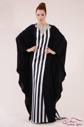 Candy Yaka Detaylı Çizgili Elbise