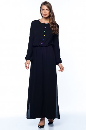 Jennifer İşlemeli Siyah Elbise