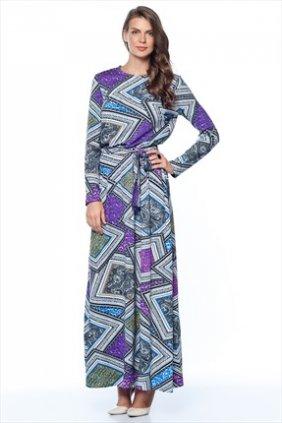 Şal Desenli Keyti Elbise