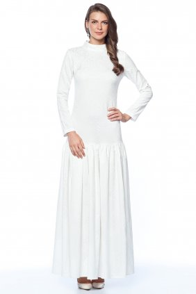 Beyaz Trompet  Elbise