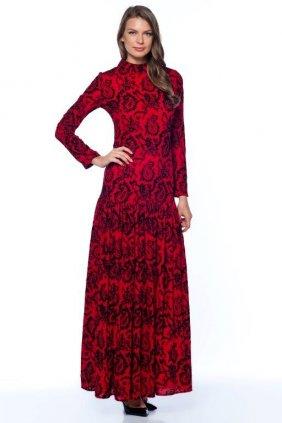 Kırmızı Trompet Elbise