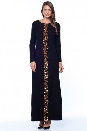 Altın Şeritli Kendi Elbise
