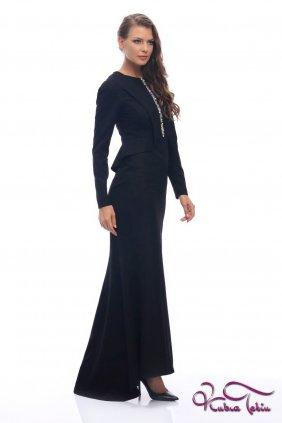 Melissa Siyah İşlemeli Elbise