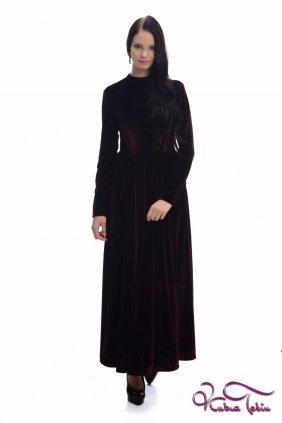 Molly Bordo Kadife Elbise