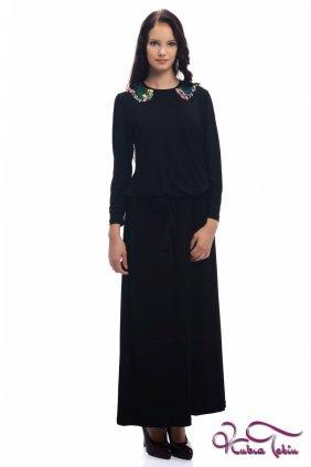 Olivia Siyah Bebe Yakalı Elbise