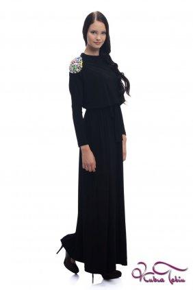 Sindy Apoletli Siyah Elbise