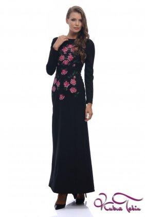 Angelina Siyah Nakışlı Elbise