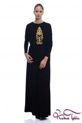 Sindy Altın İşlemeli Siyah Elbise