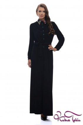 Siyah Penye Gömlek Elbise