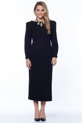 Siyah Kalem Midi Elbise