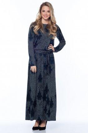 Gri Lacivert Keyif Elbise