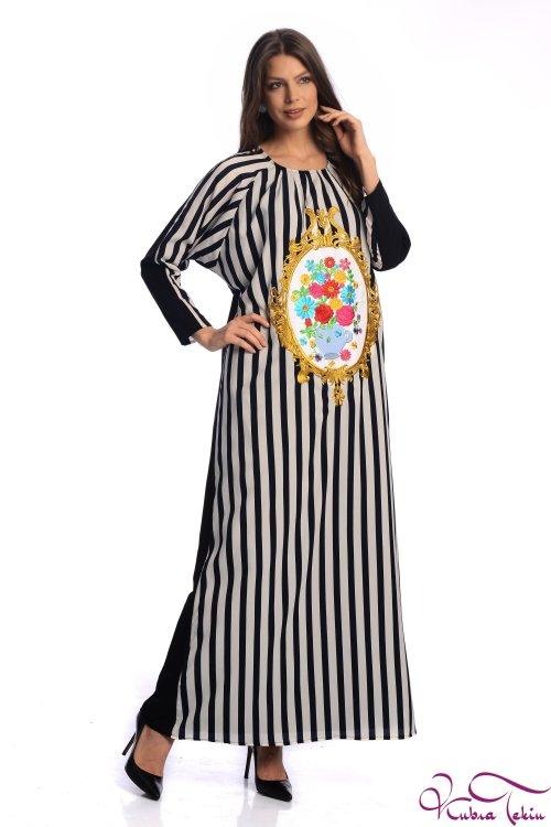 Bella Çizgili Elbise