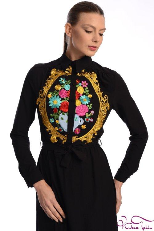 Penelope Rönesans Siyah Elbise