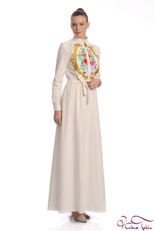 Penelope Rönesans Beyaz Elbise