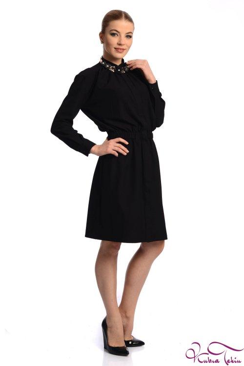 Veronica Siyah Mini Elbise