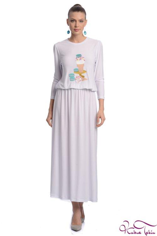 Olivia Beyaz Elbise