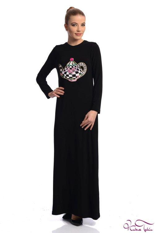 Kupraa Siyah Çaydanlık Elbise