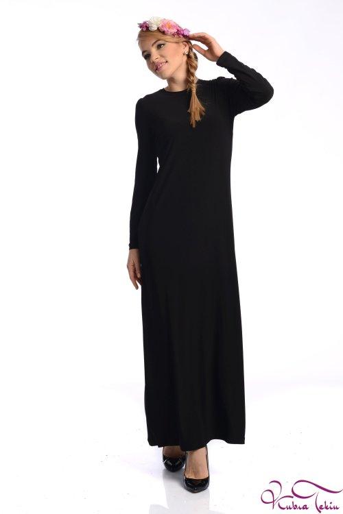Kupraa Siyah Kalem Elbise