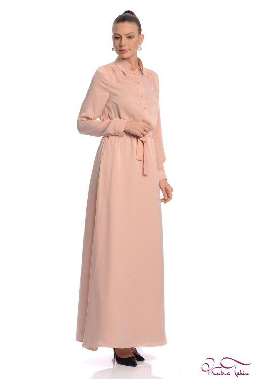 Penelope Pudra Gömlek Elbise