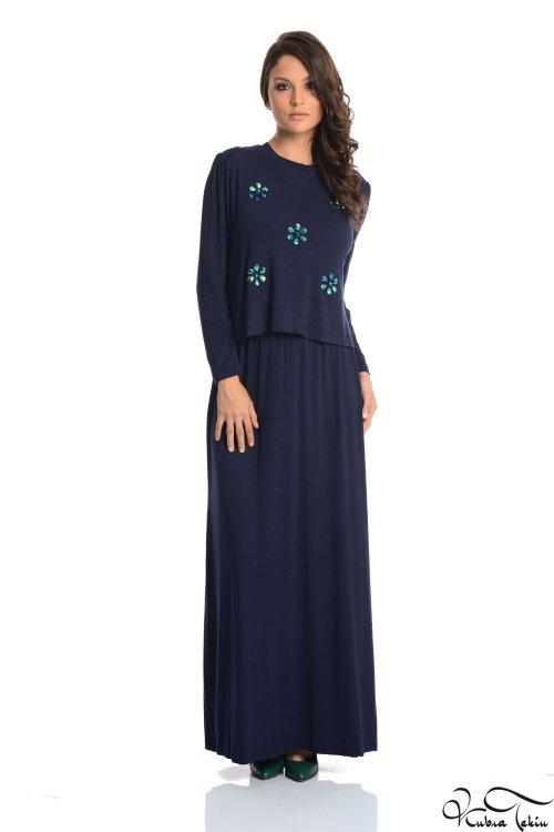 Amorita Lacivert Elbise