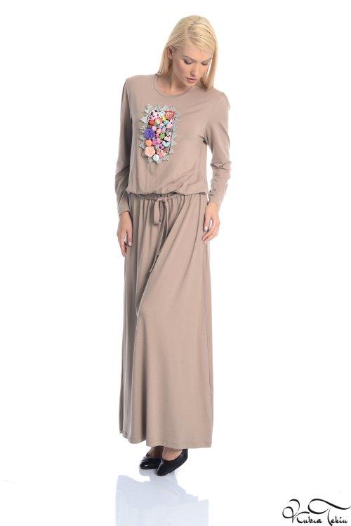 Olivia Vizon Yakalı Elbise