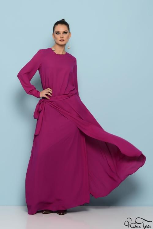 Givency Fuşya Elbise