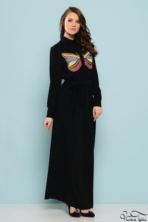 Penelope Kelebek Siyah Elbise