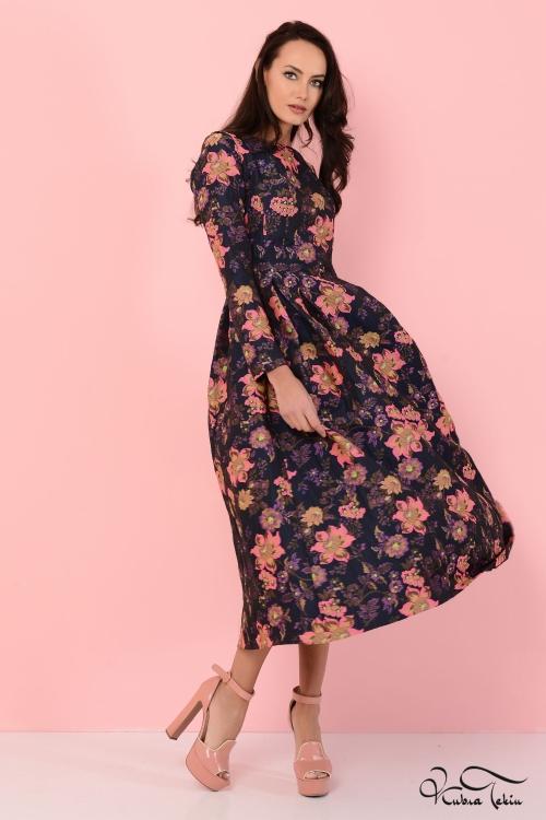 Merve Floral Elbise
