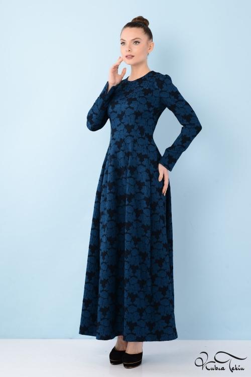 Silence Brocade Midi Elbise