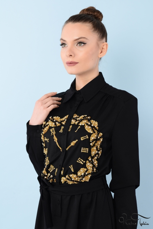 Penelope Saat Taş İşlemeli Elbise