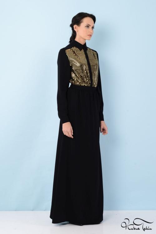Penelope Altın Elbise
