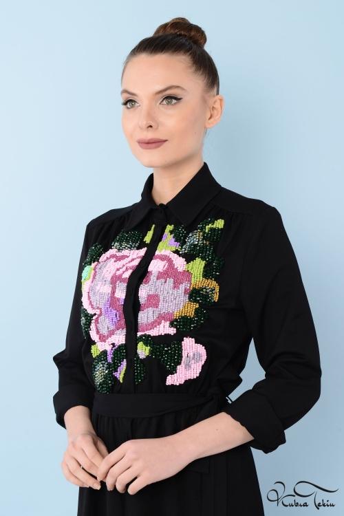 Penelope Rose Taş İşlemeli Elbise