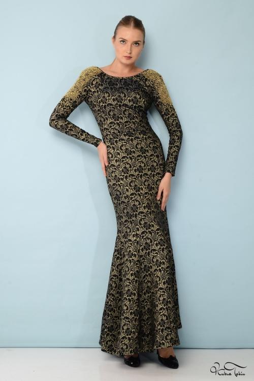 Isabel Sırtı Taşlı Elbise